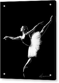 Dancer Acrylic Print by H James Hoff