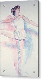 Dancer In Shades Of White Acrylic Print by Dan Terry