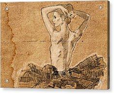 Dancer In Tutu Acrylic Print by H James Hoff