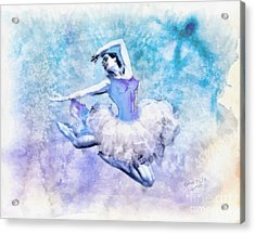Dancer Acrylic Print by Mo T