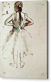 Dancer Viewed From The Back Acrylic Print by Edgar Degas
