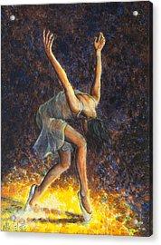 Dancer Viii Acrylic Print by Nik Helbig