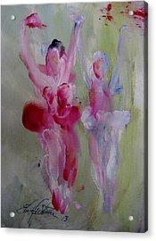 Dancers 139 Acrylic Print by Edward Wolverton