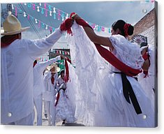 Dancers At A Traditional Fiesta Acrylic Print by Russell Monk