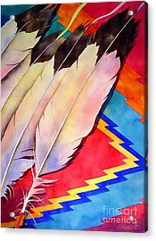 Dancer's Feathers Acrylic Print