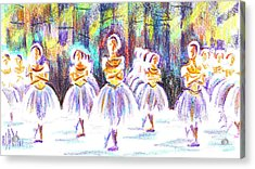 Dancers In The Forest II Acrylic Print