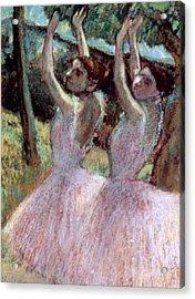 Dancers In Violet Dresses Acrylic Print