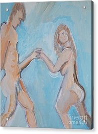 Dancers Acrylic Print by Jay Manne-Crusoe