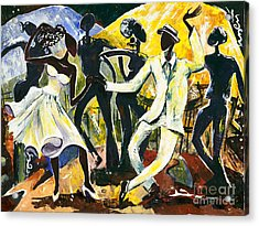 Dancers No. 1 - Saturday Nights Out Acrylic Print by Elisabeta Hermann