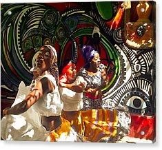 Dancers Of Callejon De Hamel Acrylic Print by Trish Oliveira