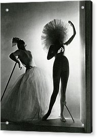 Dancers Posing In Costumes From Salvador Dali's Acrylic Print