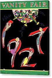 Dancers Spelling 1927 Acrylic Print