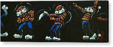 Dancing Aubie Acrylic Print by Carole Foret