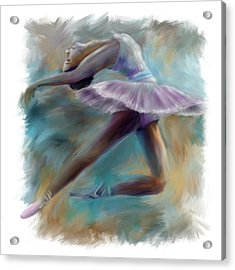 Dancing Ballerina Acrylic Print by Bijan Studio