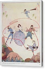 Dancing Acrylic Print by British Library