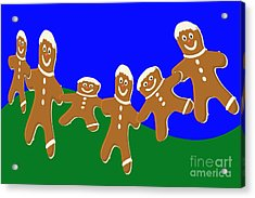 Dancing Cookies Acrylic Print by Tina M Wenger