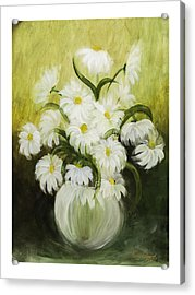 Dancing Daisies Acrylic Print by Nancy Edwards
