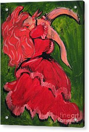 Acrylic Print featuring the painting Dancing Doll by Wendy Coulson
