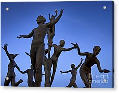 Dancing Figures Acrylic Print by Brian Jannsen