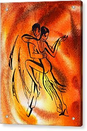 Dancing Fire Iv Acrylic Print by Irina Sztukowski