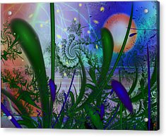 Dancing Fireflies Acrylic Print by Faye Symons