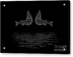 Dancing Fish At Night 2 Acrylic Print by Evgeniy Lankin