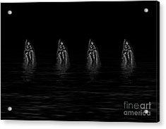 Dancing Fish At Night 4 Acrylic Print by Evgeniy Lankin