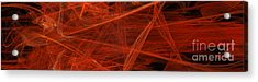 Dancing Flames 1 H - Panorama - Abstract - Fractal Art Acrylic Print by Andee Design