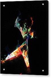 Dancing Flames Acrylic Print by Kerry Lapcevich