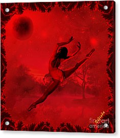 Acrylic Print featuring the digital art Dancing For The Moon - Fantasy Art By Giada Rossi by Giada Rossi