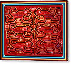 Dancing Geckos Acrylic Print
