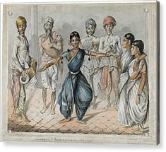 Dancing Girls And Musicians Acrylic Print by British Library