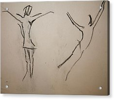 Dancing Girls Acrylic Print by Elena Svobodina