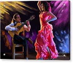 Dancing Gypsy Woman Acrylic Print
