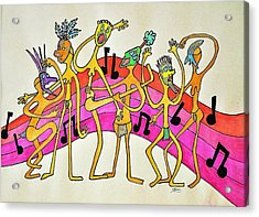 Dancing Happy People Acrylic Print by Glenn Calloway