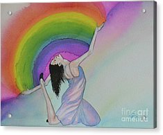 Dancing In Rainbows Acrylic Print by Suzette Kallen