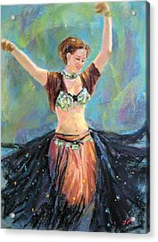 Acrylic Print featuring the painting Dancing In The Air by Jieming Wang