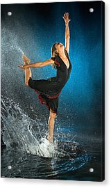 Dancing In The Rain Acrylic Print by Adam Chilson