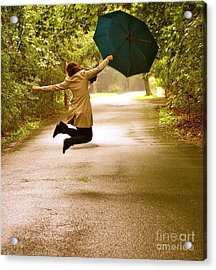 Dancing In The Rain Acrylic Print by Susan Elise Shiebler