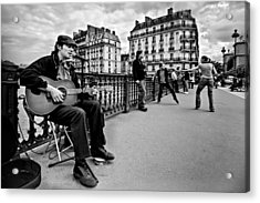 Acrylic Print featuring the photograph Dancing In The Streets Of Paris / Paris by Barry O Carroll