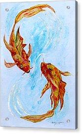 Dancing Koi Sold Acrylic Print