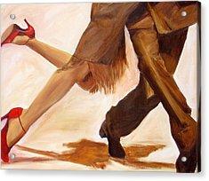 Acrylic Print featuring the painting Dancing Legs IIi by Sheri  Chakamian