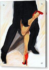 Acrylic Print featuring the painting Dancing Legs II by Sheri  Chakamian