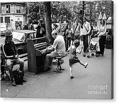 Dancing On A Paris Street Acrylic Print by Diane Diederich
