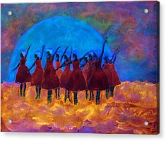 Dancing On Fire In The Moon Light Acrylic Print