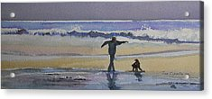 Dancing On The Beach Acrylic Print by Jan Cipolla