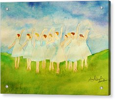 Dancing On Top Of The Grass Acrylic Print
