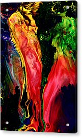 Dancing Red Peppers  Acrylic Print by Serg Wiaderny