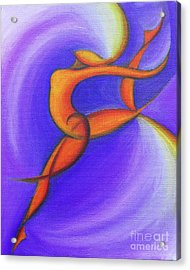 Dancing Sprite In Purple And Orange Acrylic Print