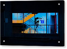 Dancing To Floor G Night People Acrylic Print by Bob Orsillo